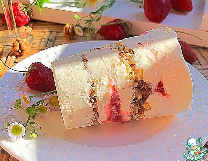 Рецепт: Сливочное мороженое с грецким орехом