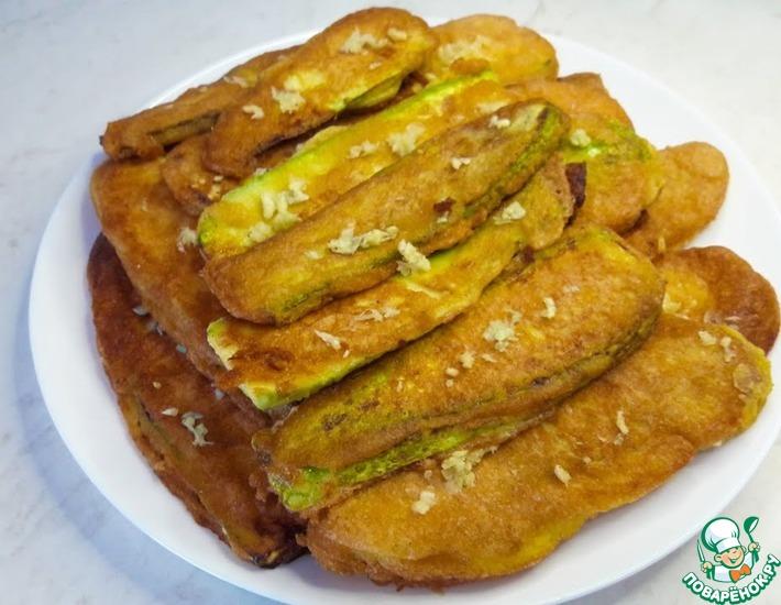Рецепт: Жареные кабачки в кляре