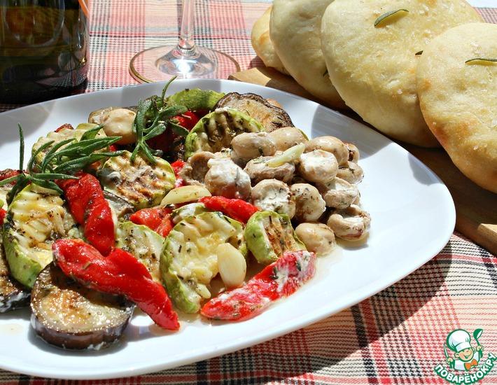 Рецепт: Антипасти из овощей и грибов