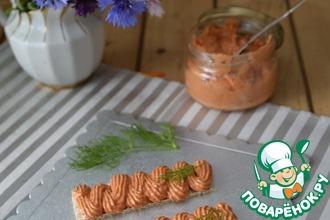 Рецепт: Намазка из запечённого перца и творожного сыра