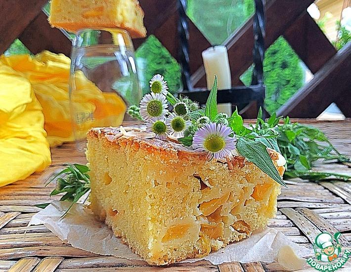 Рецепт: Персиковый пирог «Домашний»