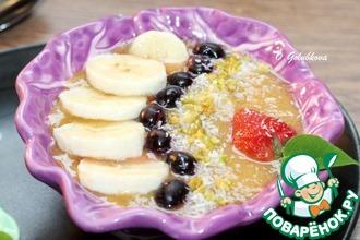Рецепт: Cмузи-боул из персика и банана