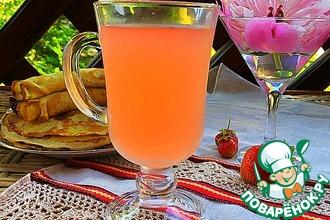 Рецепт: Клубничный квас с имбирем
