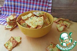 Рецепт: Чипсы сырные из тонкого бездрожжевого лаваша