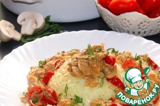 Рецепт: Курица ала крем по-гречески