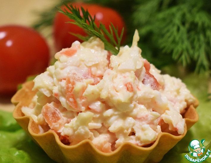 Рецепт: Закуска из помидоров и крабовых палочек
