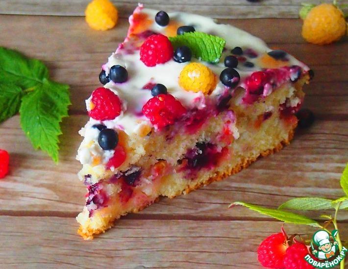 Рецепт: Нарядный ягодный пирог