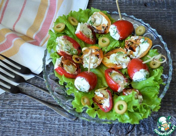 Рецепт: Черри с маслинами и творогом