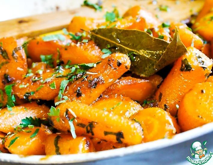 Рецепт: Морковь в чесночном карамельном соусе