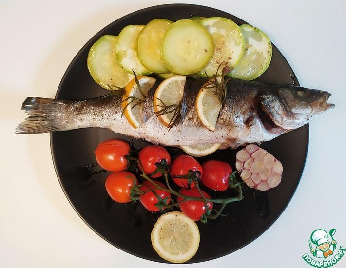 Рецепт: Сибас запеченный с овощами