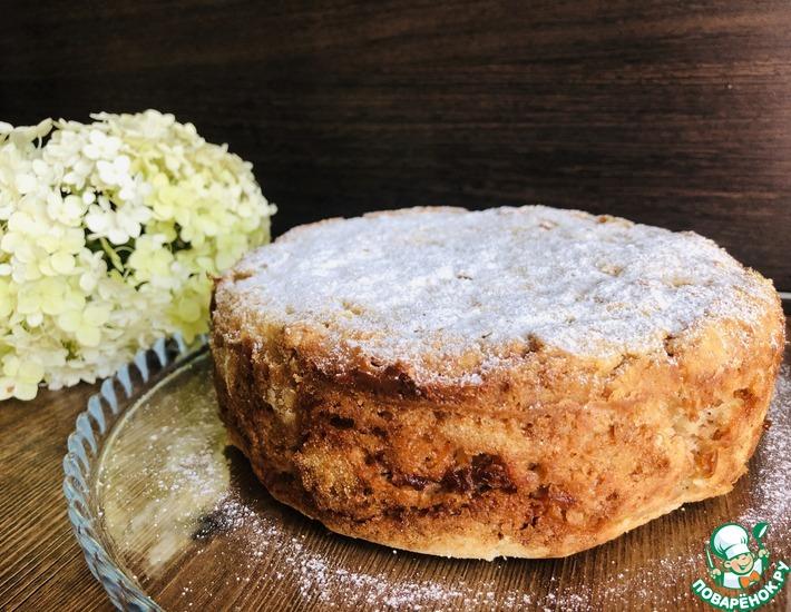 Рецепт: Насыпной яблочный пирог