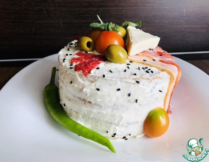 Рецепт: Закусочный торт Мужской