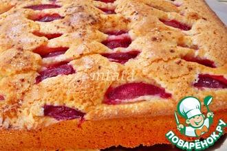 Рецепт: Быстрый пирог со сливой