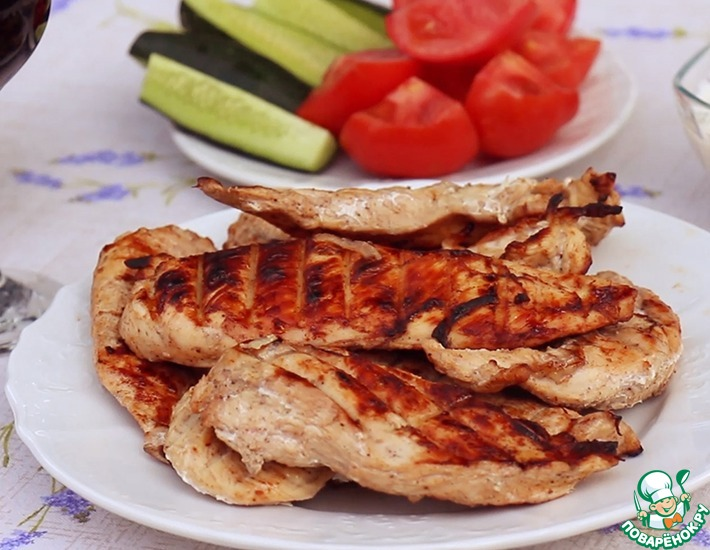 Рецепт: Шашлык из куриного филе