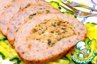 Рецепт: Закусочный рулет из пикши и лосося