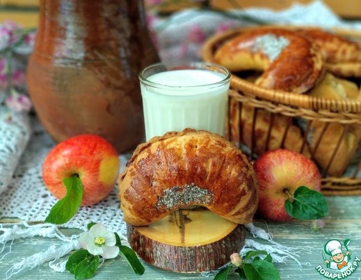 Рецепт: Пирожки с яблоками и грецкими орехами