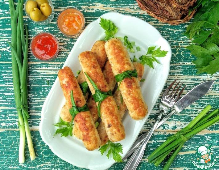 Рецепт: Домашние колбаски с начинкой