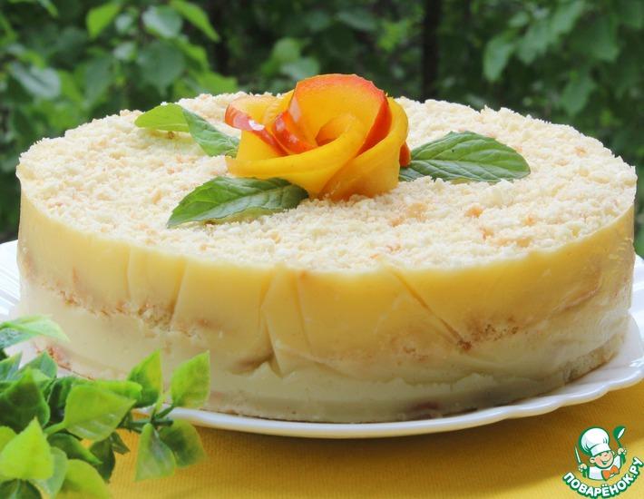 Рецепт: Десерт без выпечки Яблочная неженка