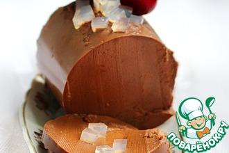 Рецепт: Шоколадный пудинг с солевыми призмами