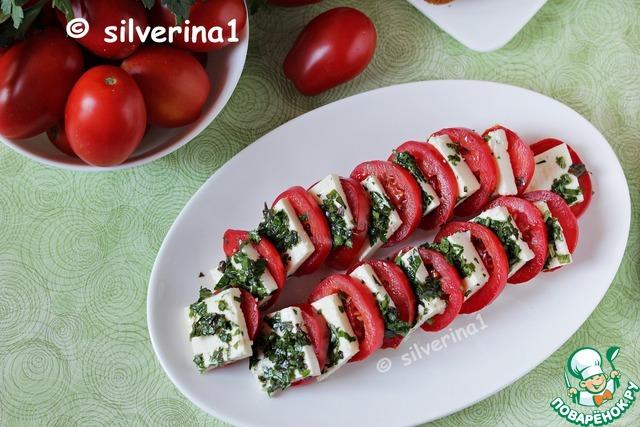 Маринованный сыр с помидорами