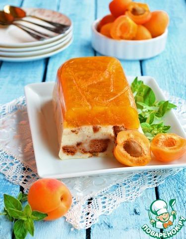 """Желейный десерт """"Пудинг-абрикос"""""""