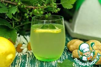 Рецепт: Холодный чай из листьев черной смородины