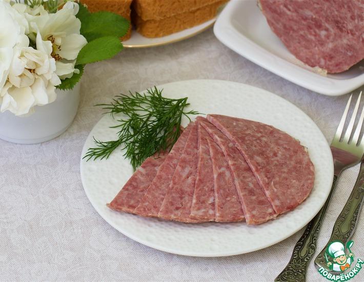 Рецепт: Колбаса в ветчиннице