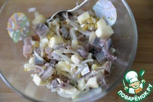 Тартар из сельди с яблоком Масло растительное