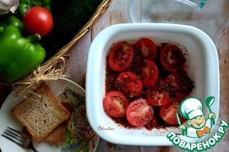 Рецепт: Закусочные перечные помидоры быстрые