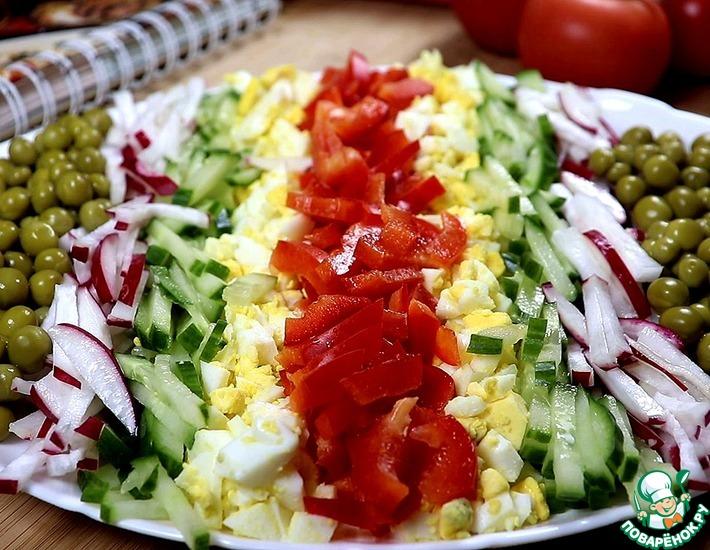 Рецепт: Овощной салат с яйцом