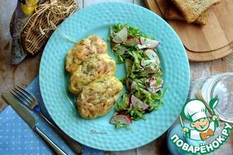 Рецепт: Запечённые картофельно-кукурузные котлеты с зеленью