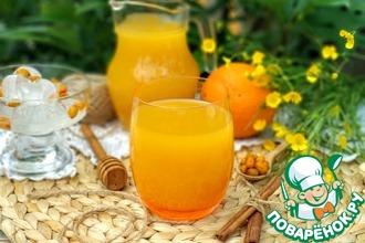 Рецепт: Апельсиново-облепиховый сбитень Оранжевое лето