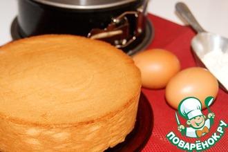 Рецепт: Масляный ванильный бисквит