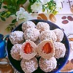 ДесертШарики с клубникой