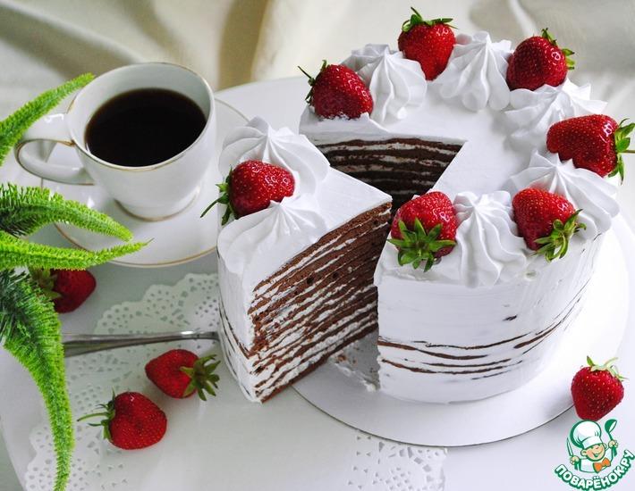 Рецепт: Торт шоколадный Молочная девочка