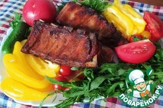 Рецепт: Свиные ребрышки BBQ