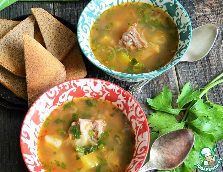 Рецепт: Картофельный суп с сельдереем и кус-кусом