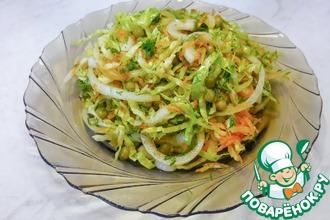 Рецепт: Витаминный салат из свежей капусты