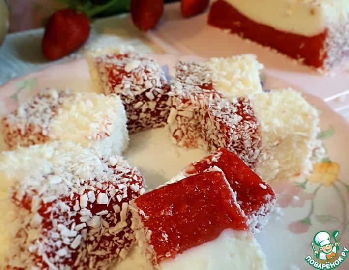 Рецепт: Десерт клубнично-сливочный