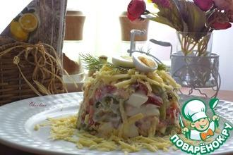 Рецепт: Салат с курицей и сыром