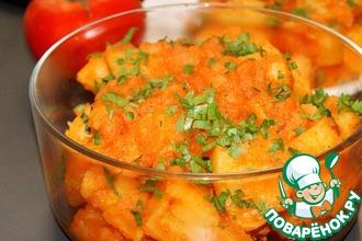 Рецепт: Картофель Яхни