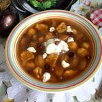 Сладкий суп с галушками