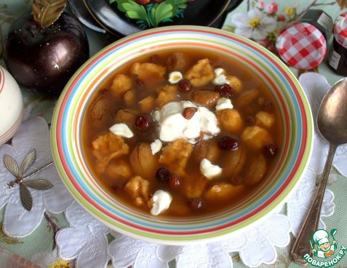 Рецепт: Сладкий суп с галушками