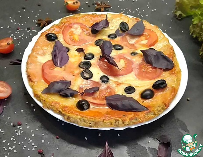Рецепт: Пицца грибная без теста