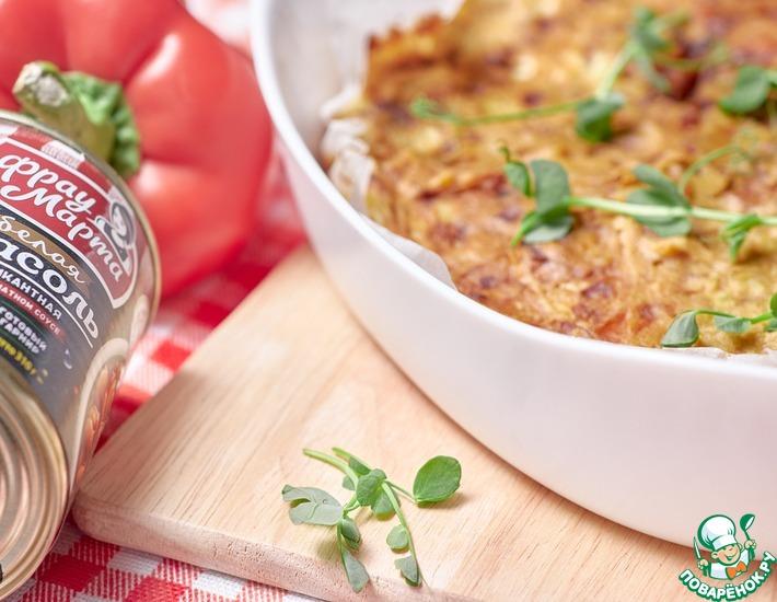 Рецепт: Запеканка фасолево-картофельная
