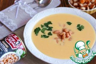 Рецепт: Сырный суп-пюре с белой фасолью
