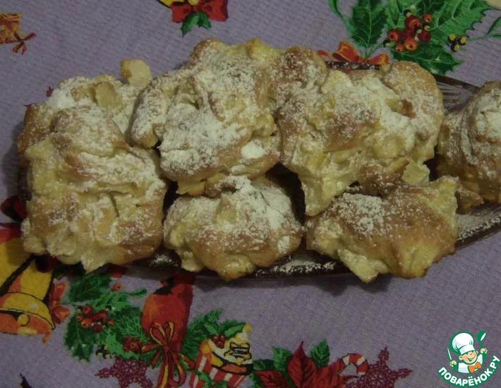 Рецепт: Воздушное яблочное печенье Шарлотка