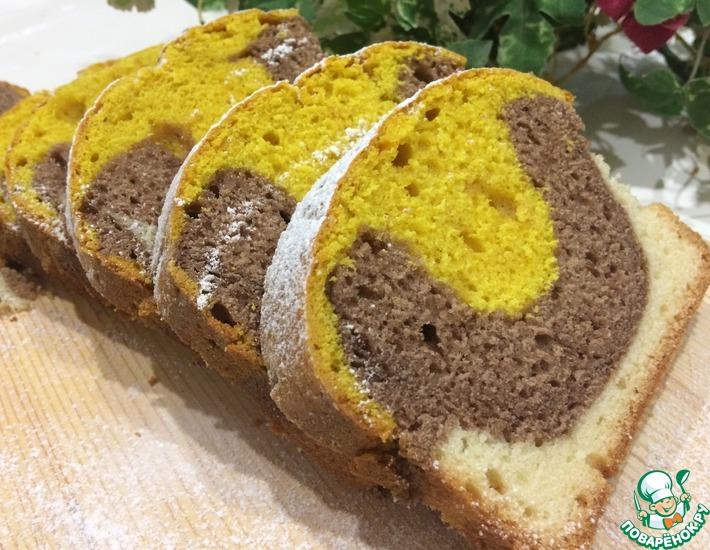 Рецепт: Трехцветный кекс