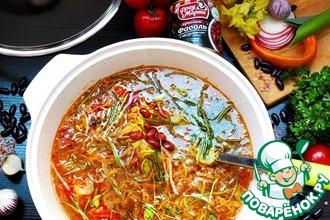 Рецепт: Суп овощной с фасолью