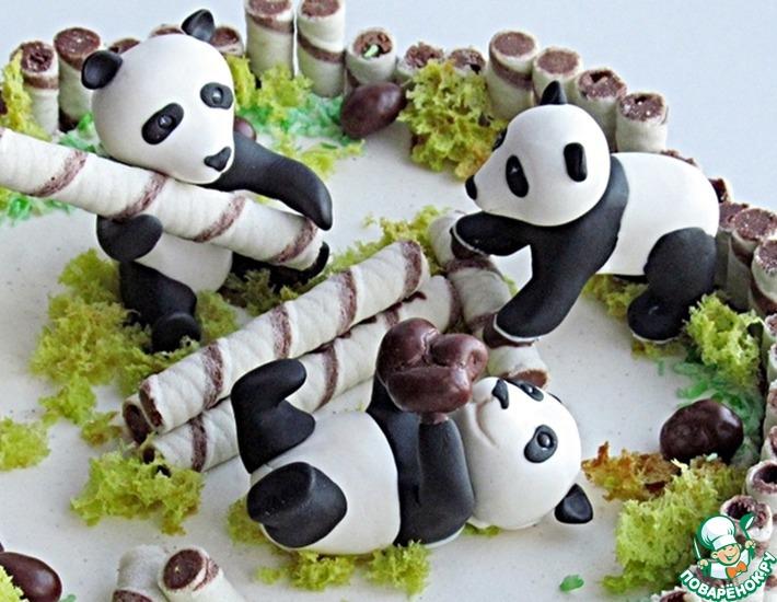 Рецепт: Фигурка панды из сахарной мастики